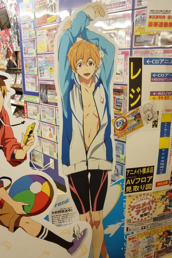 Free! アニメイト横浜店 ポスター広告 渚がカッコよくなってる件 -ゴロゴロ生活-