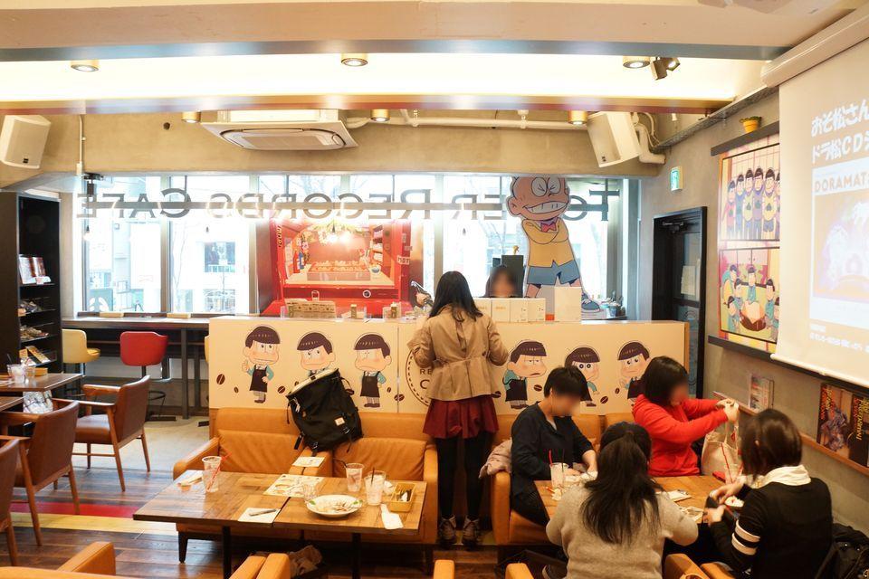 おそ松さん タワーレコードカフェコラボ アニメイトカフェとの違い -ゴロゴロ生活-